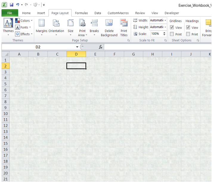 excel excel excel add back ground image worksheet
