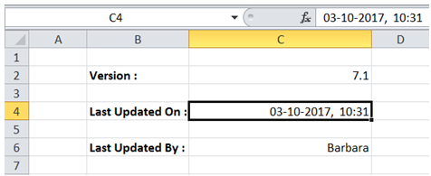 excel add timestamp to sheet entry