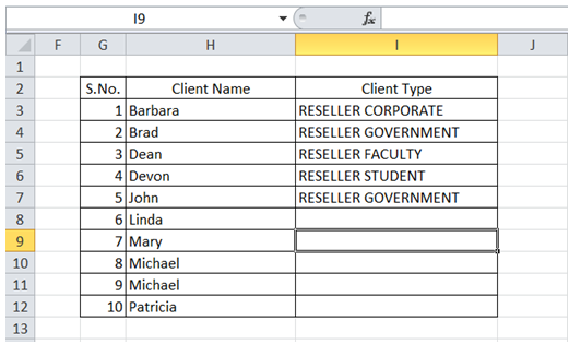 excel autocompleted text based values previously entered column