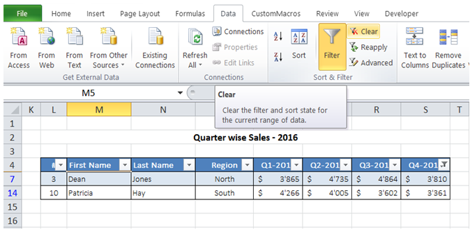 excel filter with condition