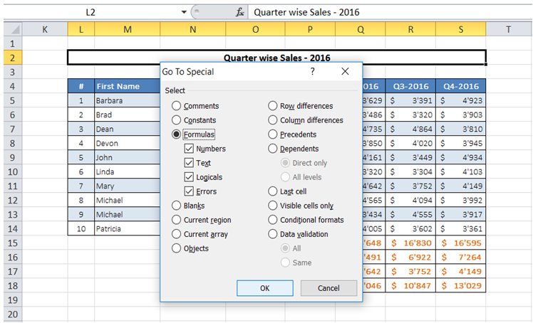 excel find cells that have a formula