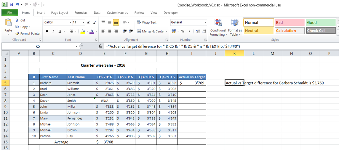 excel format number concatenated with text