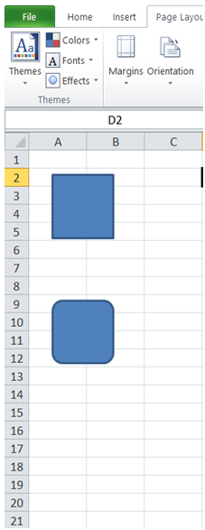 excel hide specific shape from worksheet