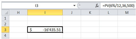 excel net present value of investment
