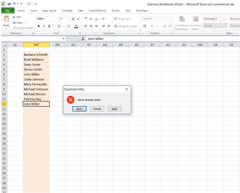 excel excel excel excel prevent entering duplicate values