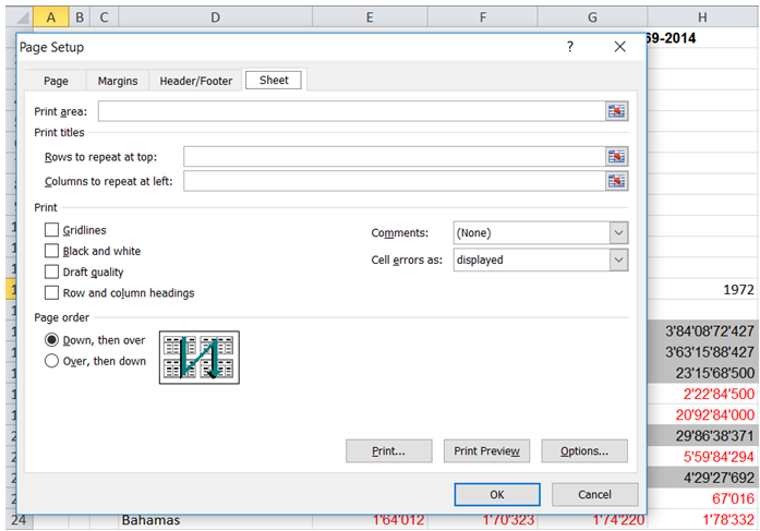excel print title on all pages
