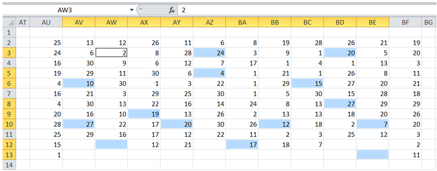 excel remove blank cells in range