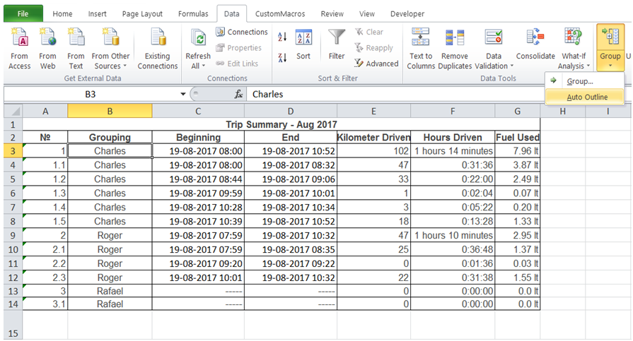excel excel showing total only hiding detail rows