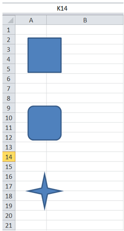 excel vba add shape to worksheet