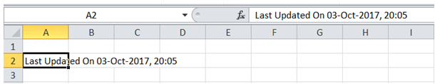 excel vba add timestamp after macro execution