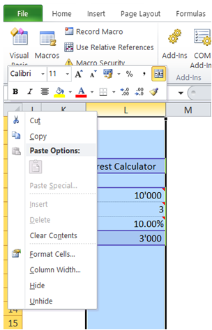 excel vba disable insert row or column