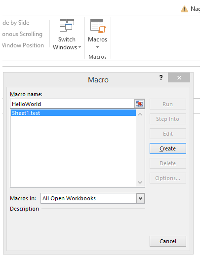 excel vba introduction to vba and macros