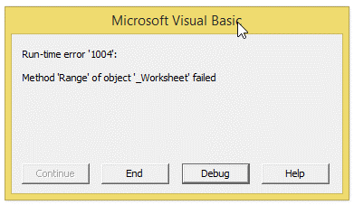 excel vba macro debugging