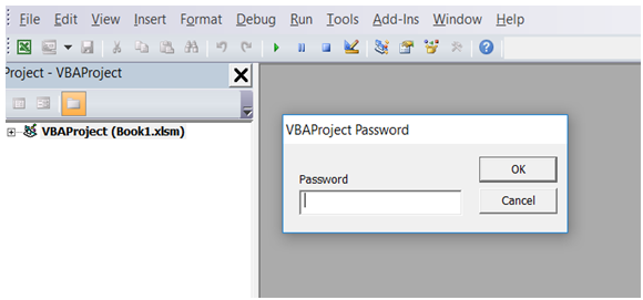 excel vba prevent user to see macro code