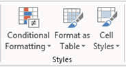 format as table