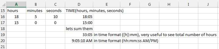 Time Functions and formulas in Microsoft Excel by ExcelMadeEasy