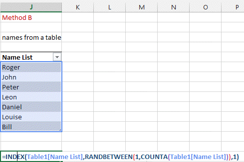 Excel Made Easy, Select randomly in a list (of name, numbers, etc   )