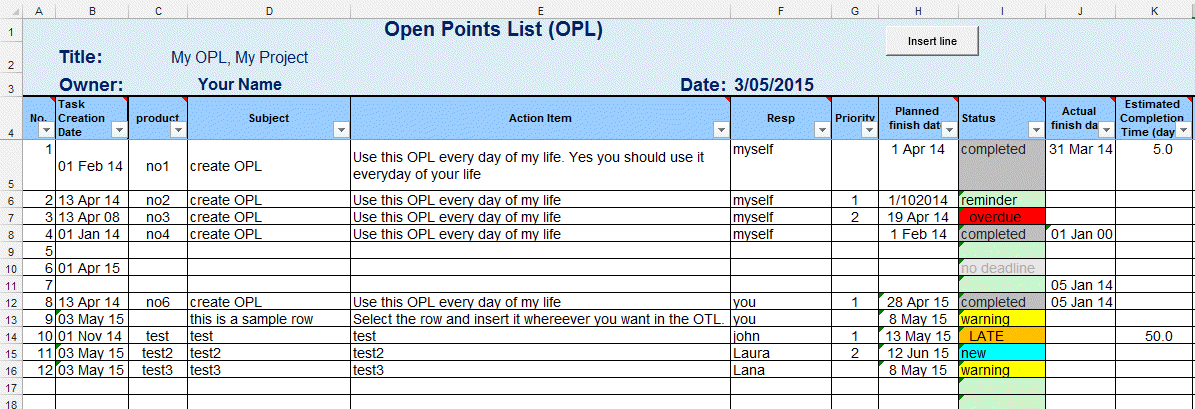 Excel Template TO DO list or Task List Template for Excel by – Sample to Do Checklist Template