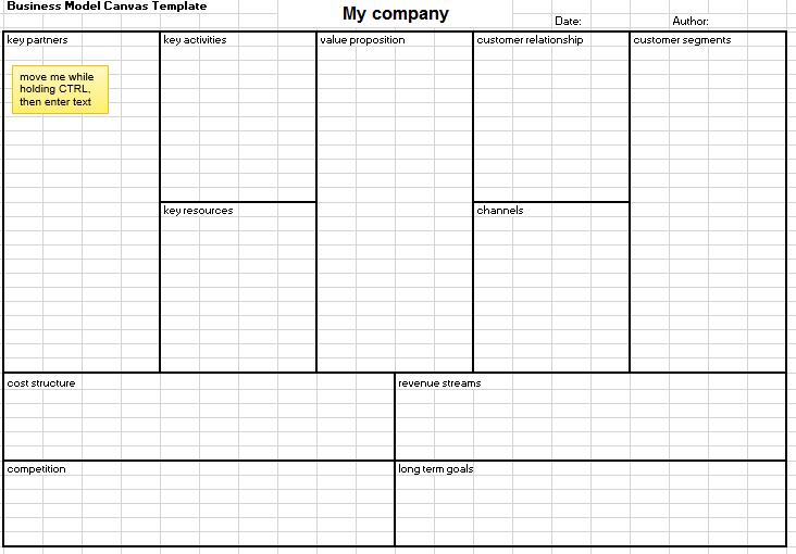 Business models 101 explained by excel made easy business model template wajeb Image collections